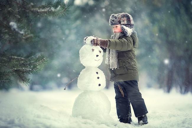 la neige : une vraie source de distraction